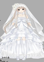 DNF聊天框改九九八十一穹妹白色婚纱补丁
