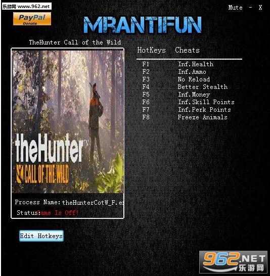 猎人:荒野的呼唤八项修改器v1.21截图0