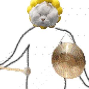 沙雕小人猫咪弹奏乐器魔性表情包图片