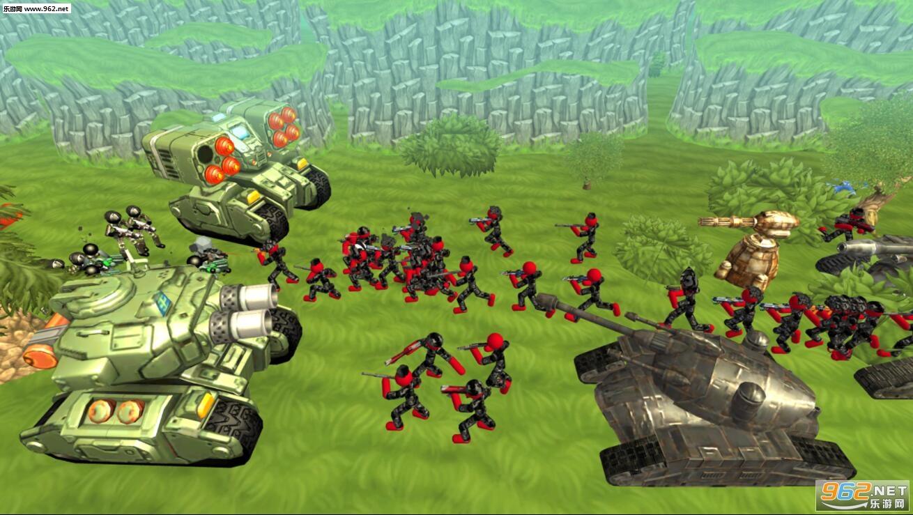 火柴人坦克战斗模拟器安卓版v1.04(Stickman Tank Battle Simulator)_截图2