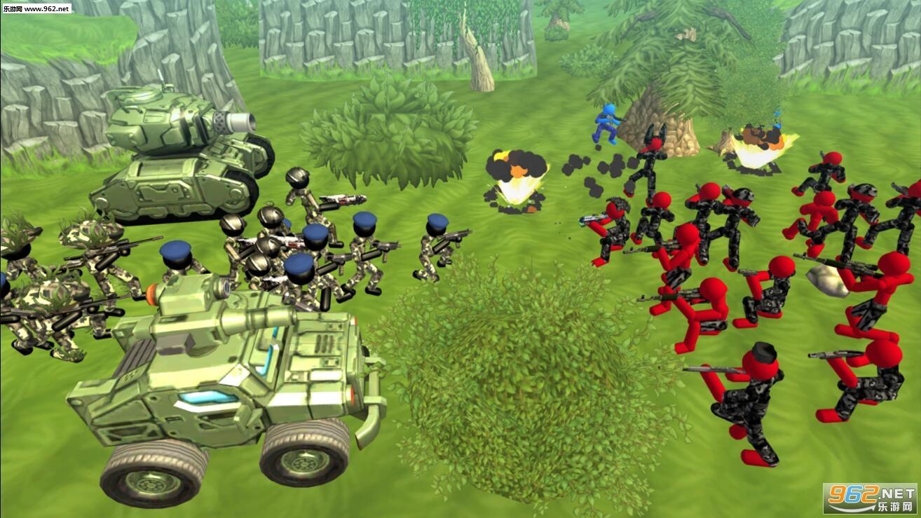 火柴人坦克战斗模拟器安卓版v1.04(Stickman Tank Battle Simulator)_截图3