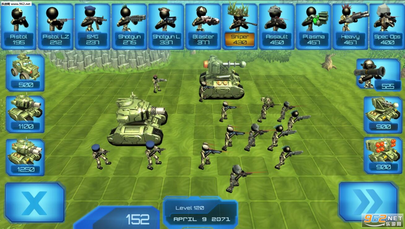 火柴人坦克战斗模拟器安卓版v1.04(Stickman Tank Battle Simulator)_截图4