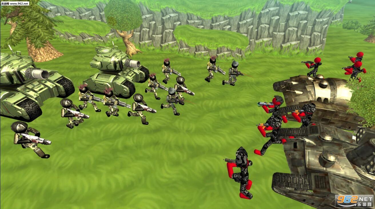 火柴人坦克战斗模拟器安卓版v1.04(Stickman Tank Battle Simulator)_截图0