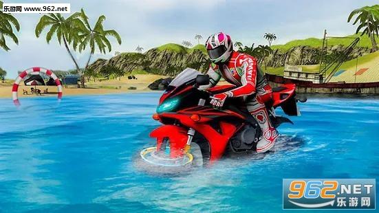 水上冲浪摩托车自行赛安卓版(Water Surfer Moto Bike Race)v1.3截图1