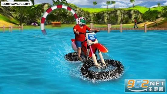 水上冲浪摩托车自行赛安卓版(Water Surfer Moto Bike Race)v1.3截图2