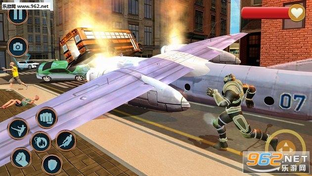 超级英雄救援任务安卓版v1.0.6(Superhero Panther Robot Battle City Rescue Games)_截图0