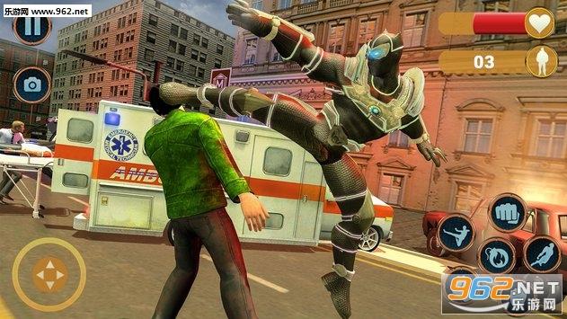 超级英雄救援任务安卓版v1.0.6(Superhero Panther Robot Battle City Rescue Games)_截图1