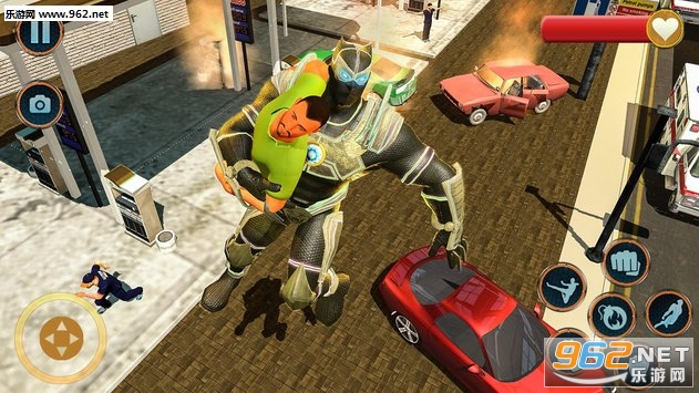 超级英雄救援任务安卓版v1.0.6(Superhero Panther Robot Battle City Rescue Games)_截图2