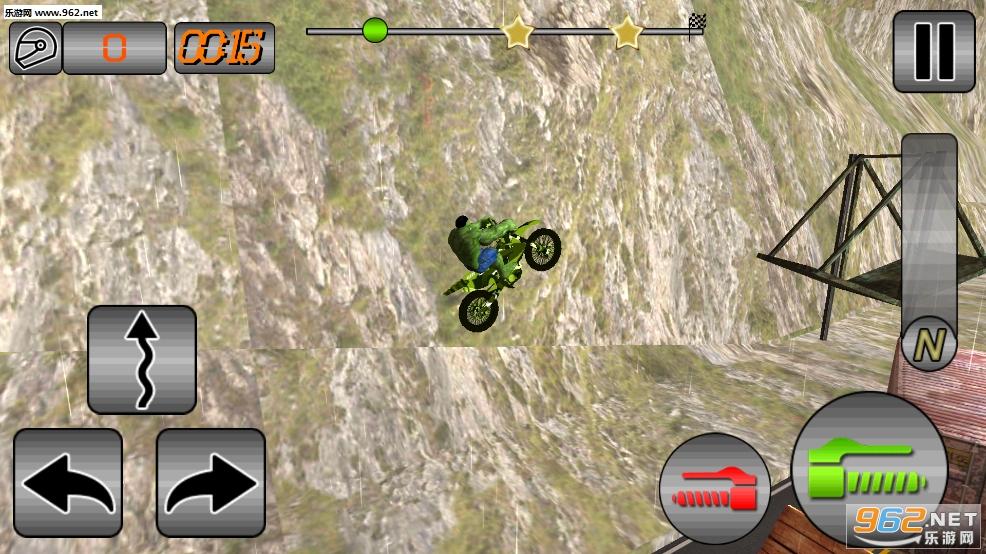 超级英雄特特技狡猾自行车安卓版v1.1(SuperHero Tricky Bike Crazy Stunt Rider Free)_截图1