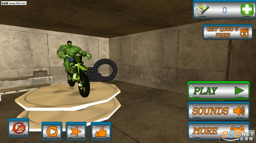 超级英雄特特技狡猾自行车安卓版v1.1(SuperHero Tricky Bike Crazy Stunt Rider Free)_截图4
