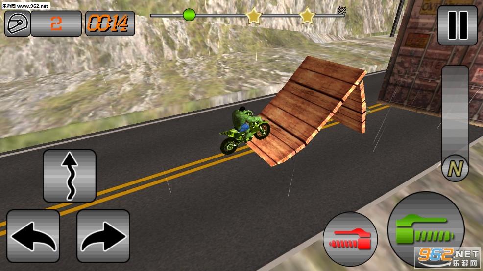 超级英雄特特技狡猾自行车安卓版v1.1(SuperHero Tricky Bike Crazy Stunt Rider Free)_截图2