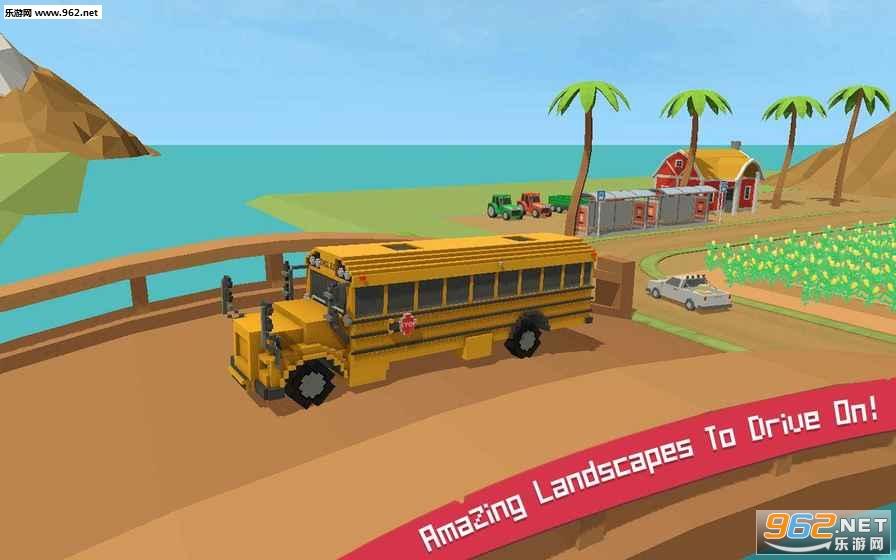 校车模拟器块状世界v1.2_截图2