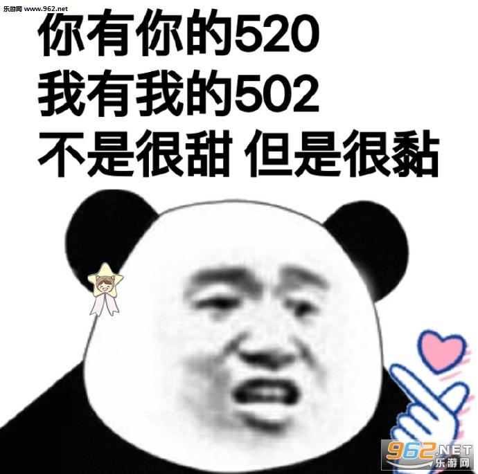 你有你的520我有我的502表情包图片图片