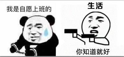 我是自愿上班的你明白就好熊猫头表情包图片