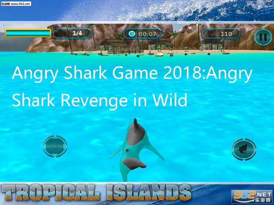 Angry Shark Game 2018:Angry Shark Revenge in Wild安卓游戏下载