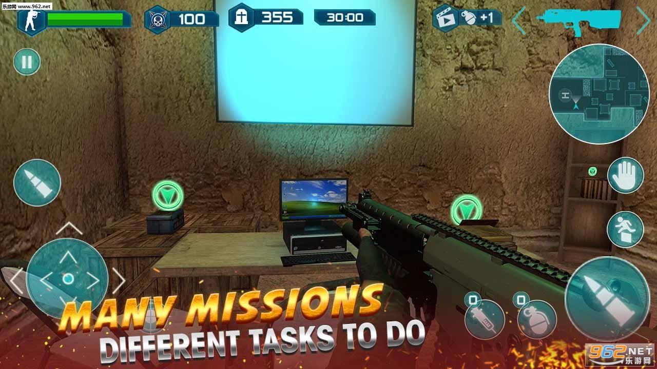 现代突袭安卓版v1.0(Assault Strike Modern Combat Counter Terrorist)截图0