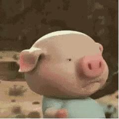 非常可爱的抖音小猪奔跑表情包图片