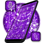 Purple Glitter Moon Theme安卓版v1.1.3