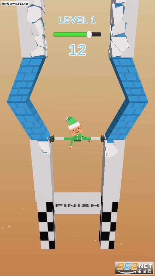 抖音上小人用腿撑住墙Fracture Jump游戏v0.1_截图1