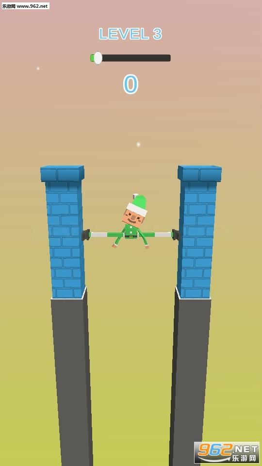 抖音上小人用腿撑住墙Fracture Jump游戏v0.1_截图2