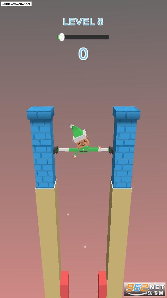 抖音上小人用腿撑住墙Fracture Jump游戏v0.1_截图3