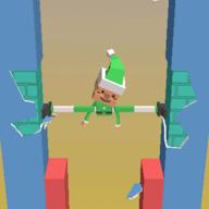 抖音上小人用腿撑住墙Fracture Jump游戏