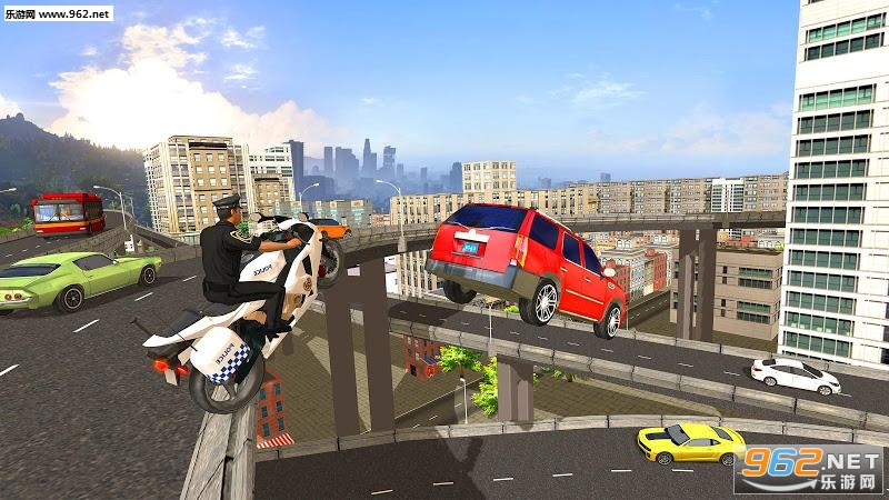 警察摩托车驾驶模拟器安卓版v1.8截图1