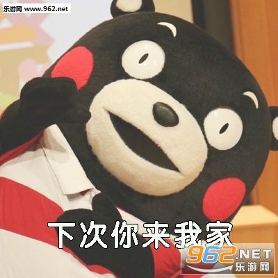 下次你来我家表情包熊本熊图片