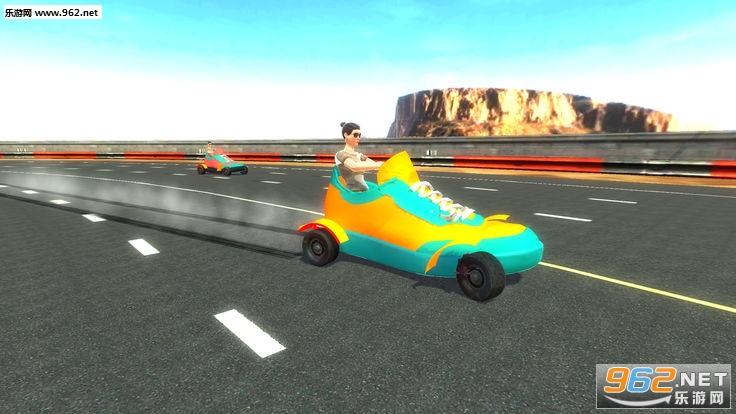 愤怒的鞋子赛车3D手游_截图1