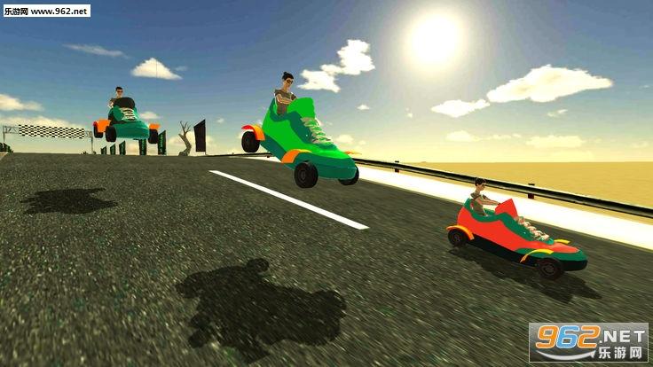 愤怒的鞋子赛车3D手游_截图2