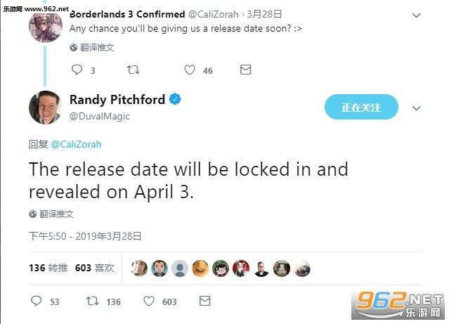 《无主之地3》发售日已经确定 将在下周公布