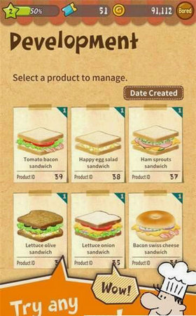 快乐三明治小餐厅中文版v1.1.5_截图1
