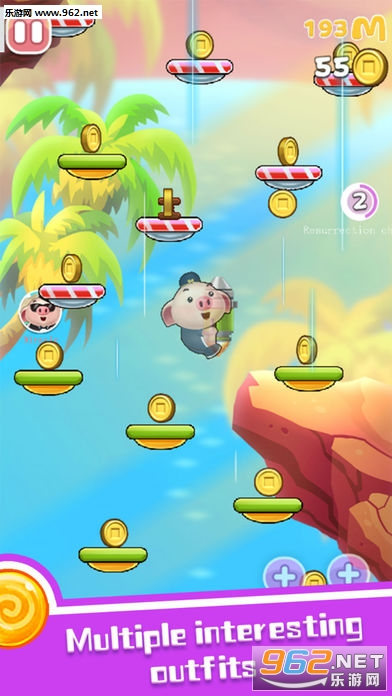 跳跃的小猪Jumping Piglet手游_截图2