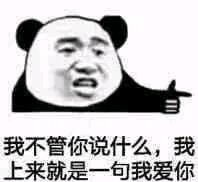 熊猫头恋爱情话表情包截图2