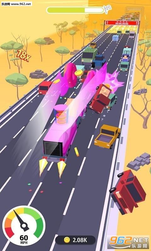 横冲直撞粉碎公路安卓版v0.1_截图2