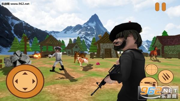 迷你牛仔狙击兵3D安卓版v1.0_截图0
