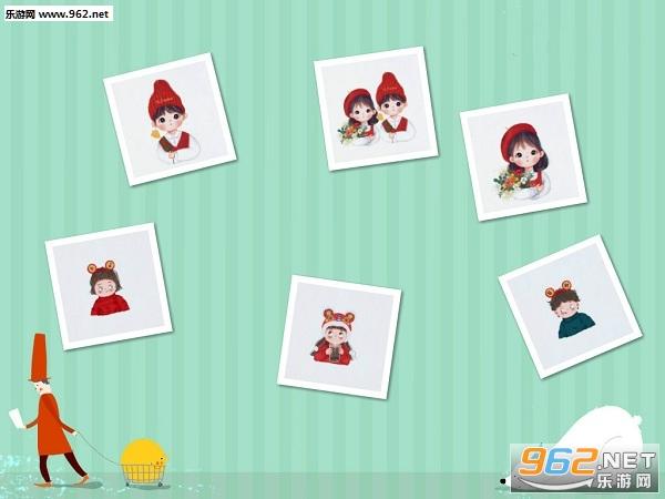 春节情侣头像卡通图片一左一右