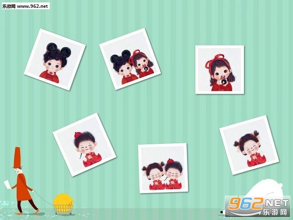 春节情侣头像卡通图片一左一右截图1