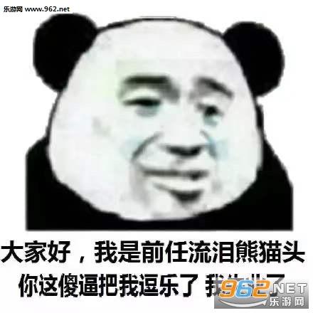 大家好我是流泪熊猫头表情包