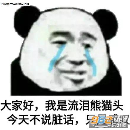 大家好我是流泪熊猫头表情包截图1