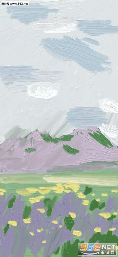立体油画壁纸