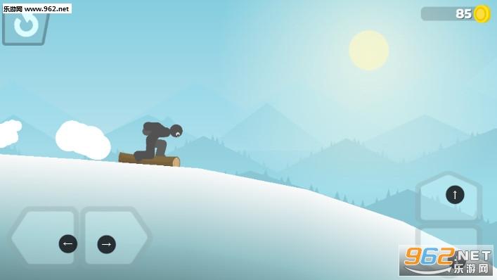 火柴人滑雪冒险安卓版v0.1截图1