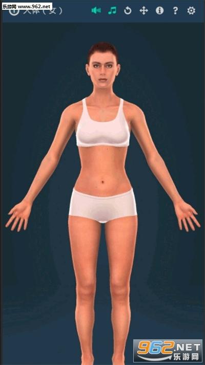 人体系统女性3d苹果版截图0