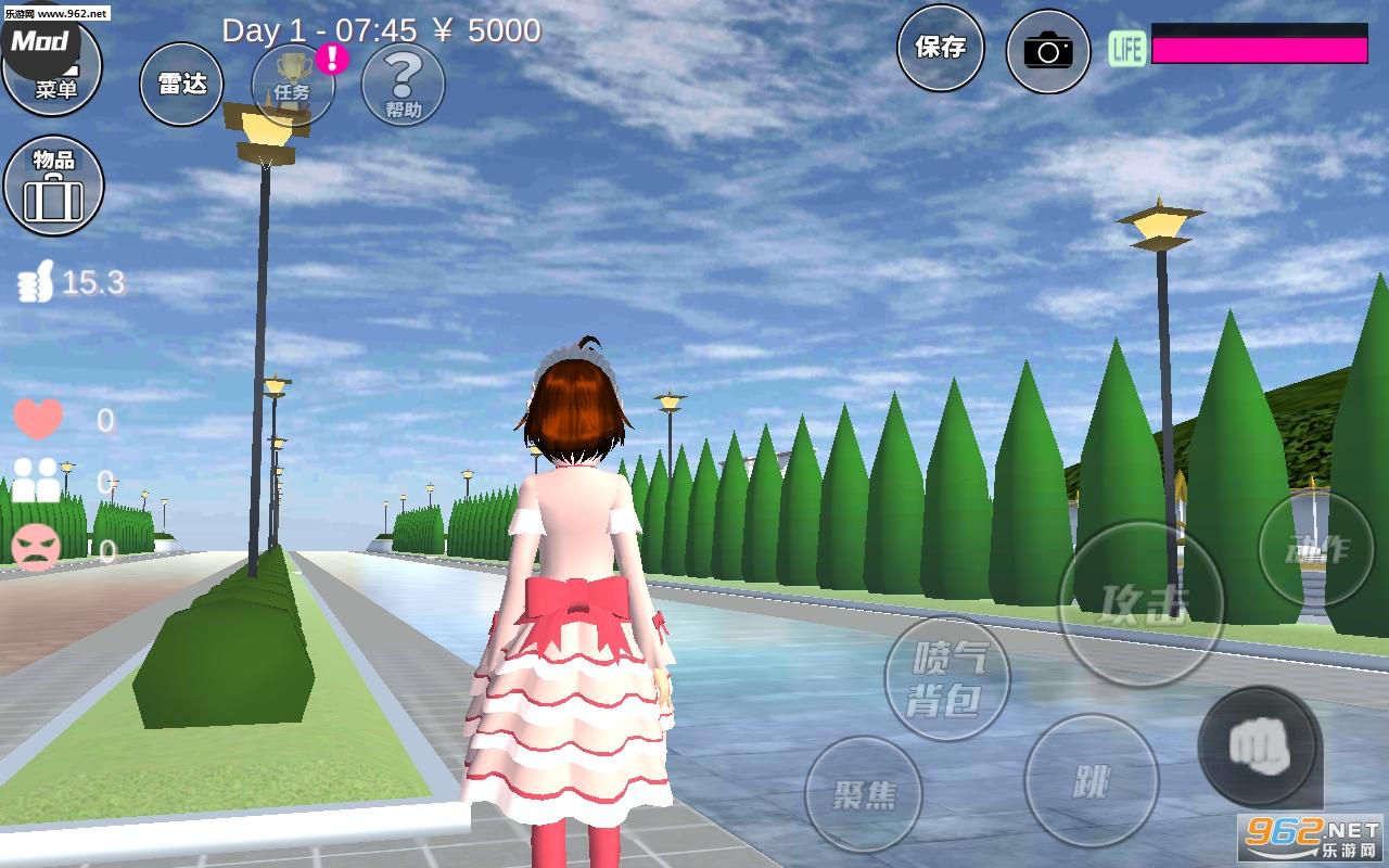樱花校园模拟器萝莉塔中文版v1.035.00 洛丽塔服装截图2