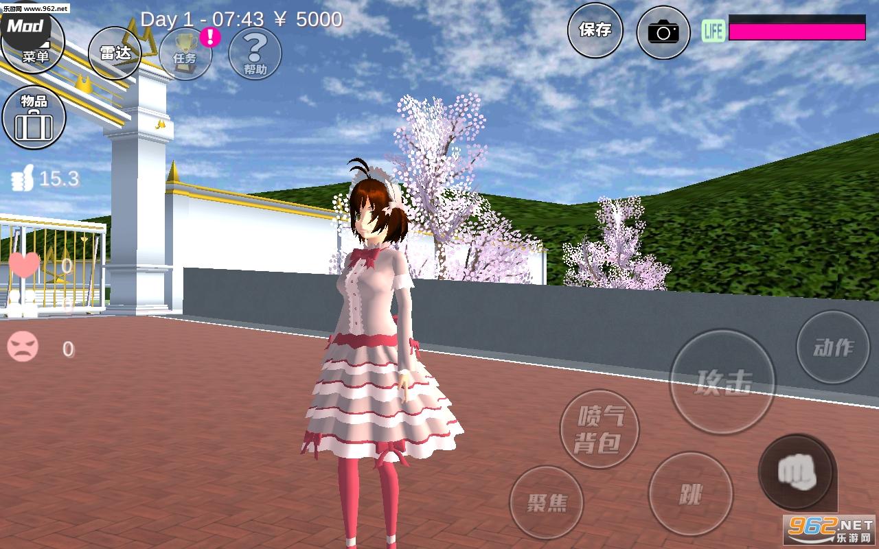 樱花校园模拟器萝莉塔中文版v1.035.00 洛丽塔服装截图3