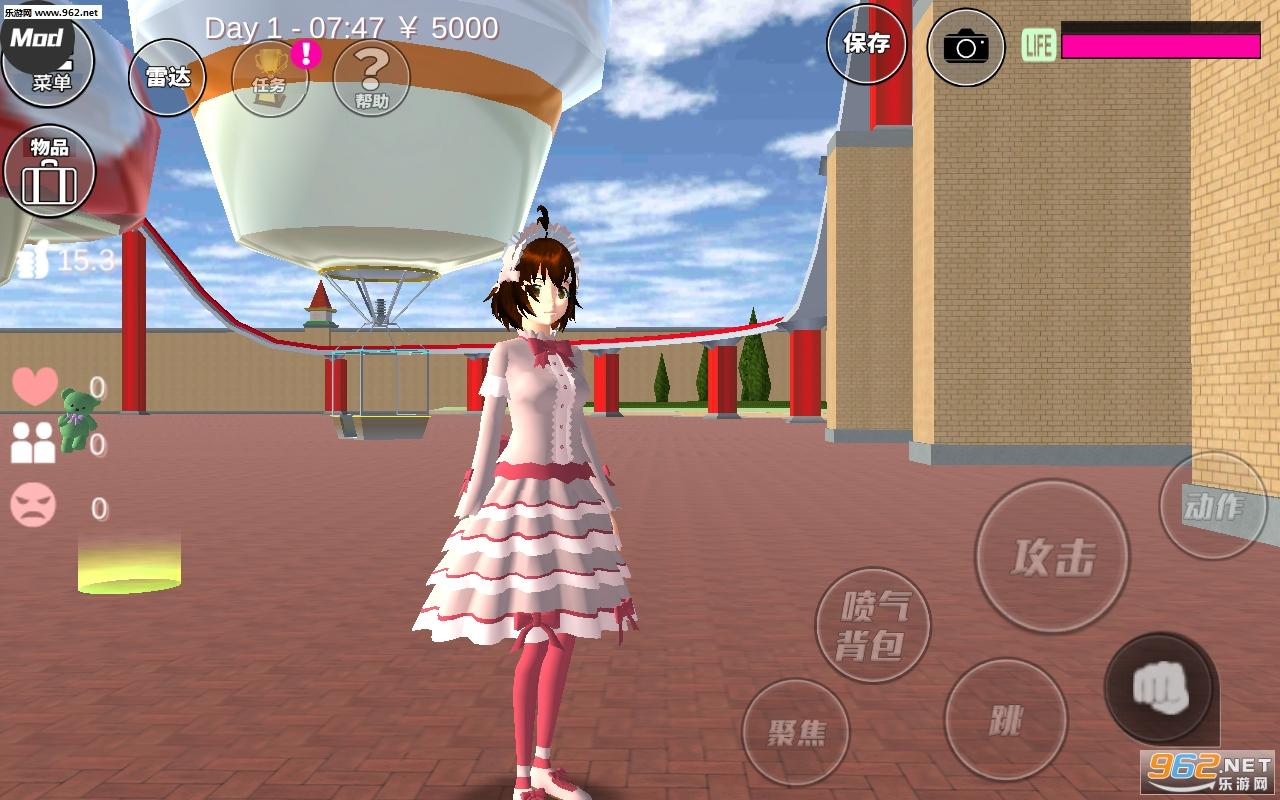 樱花校园模拟器萝莉塔中文版v1.035.00 洛丽塔服装截图0