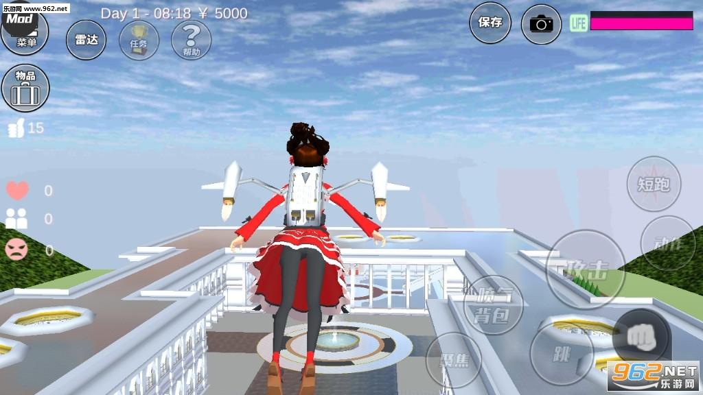 樱花校园模拟器洛丽塔版v1.035.08皇宫版截图1