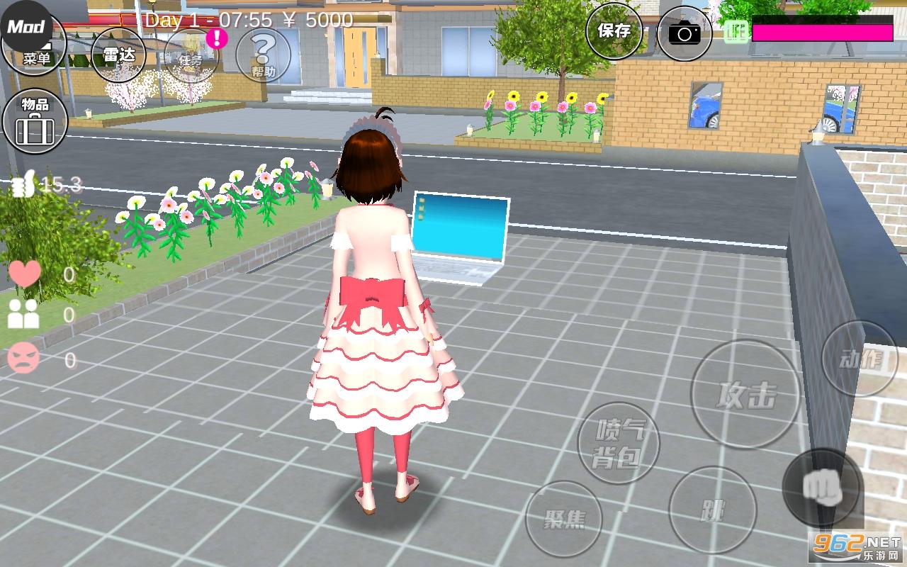 樱花校园模拟器樱花雨版v1.035.16 破解版截图2