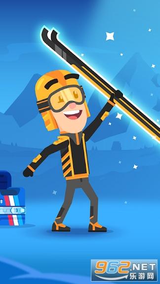 滑雪冒险飞越雪山游戏v1.0 安卓版截图1