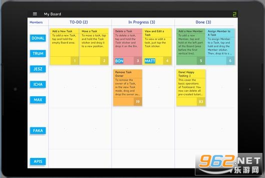 Online Scrum Board任务跟踪协作软件